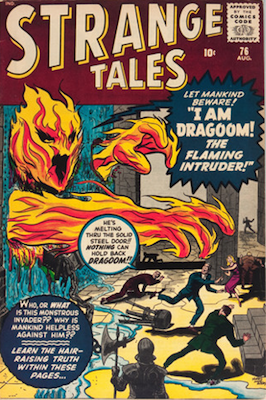 Strange Tales 76: Human Torch prototype. Click for value