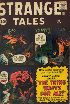 Strange Tales 92: Ancient One and another Ant-Man prototype. Click for value