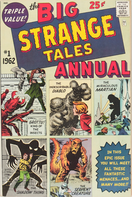 ST Annual #1: Reprints from earlier issues, Tales to Astonish and Tales of Suspense. Click for values