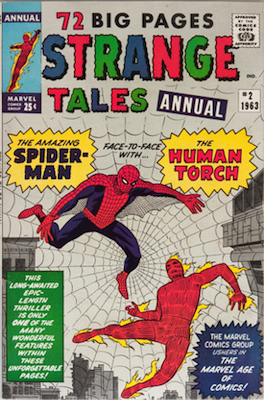 Strange Tales Annual #2: Early Spider-Man Appearance. Click for values