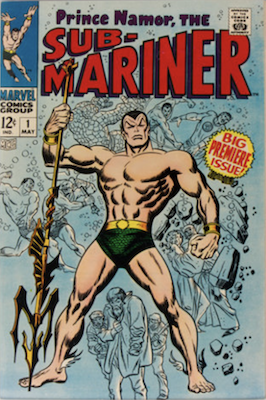 Sub-Mariner #1 (1968): First in series; origin retold. Click for values