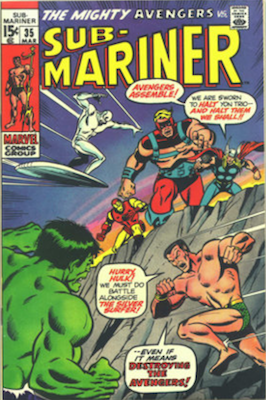 Sub-Mariner #35, Defenders Tryout Continues. Click for values