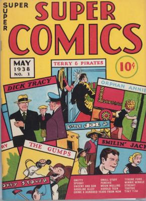 Super Comics #1 (1938). Dell. Click for values