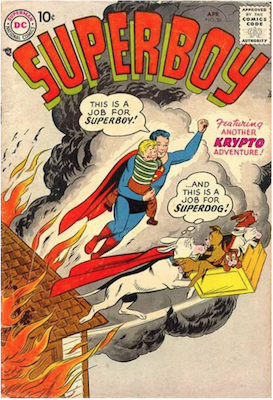 Superboy #56. Click for current values.