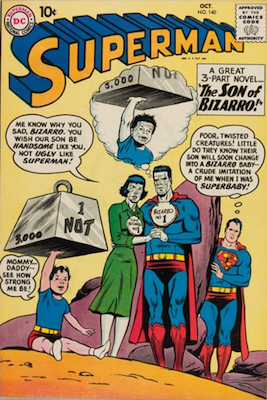 Superman #140: First blue Kryptonite; first Bizarro Supergirl