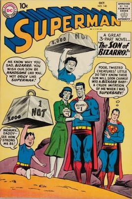 Superman #140: First blue Kryptonite; first Bizarro Supergirl