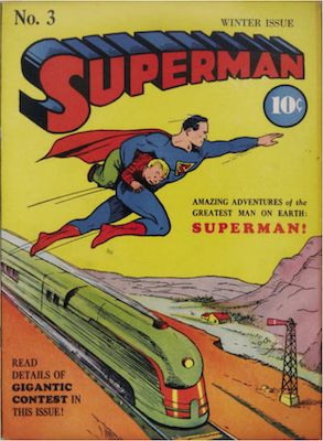 Superman #3: Reprints second story from Action #5. Click for values