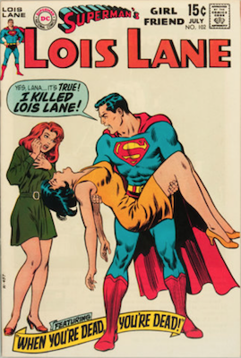 Superman's Girlfriend Lois Lane #102. Click for current values.