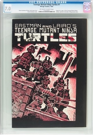 Rare and very cool, Teenage Mutant Ninja Turtles #1 1st printing is a much better place to park your cash. This 7.0 is about the same price as the WD #1.