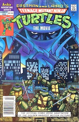 Teenage Mutant Ninja Turtles Adventures, not numbered (dated 1990). Archie Publications. Click for values
