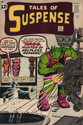 Tales of Suspense #37. Click for current values.