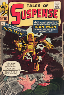 Tales of Suspense #42: Fourth appearance of Iron Man. Click for values