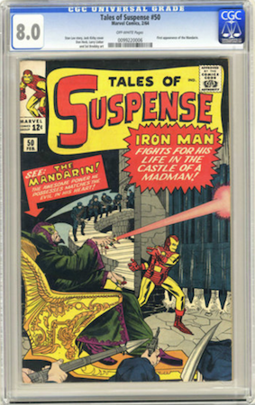 Tales of Suspense 50 is not common in higher grade. Sales data for 9.0 and above is scarce. We recommend CGC 8.0. Click to buy a copy