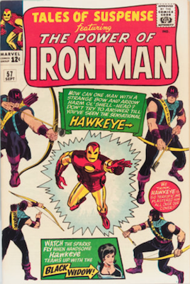 KEY ISSUE: Tales of Suspense #57, Origin and First Appearance of Hawkeye. Click for current values.