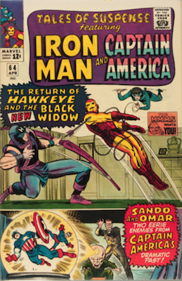 Tales of Suspense #64. Click for current values.