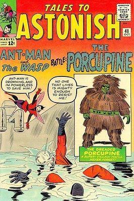 Tales to Astonish #48: Origin and First Appearance of The Porcupine. Click for values