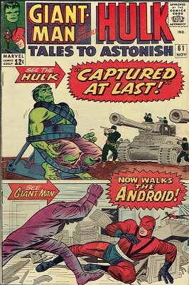 Tales to Astonish 61. Click for value