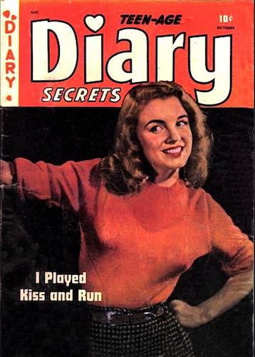Teen-Age Diary Secrets #6 by St. John Publishing. Rare! Marilyn Monroe cover photo. Click for values