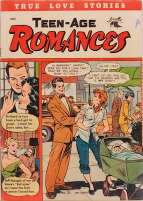 Teen-Age Romances #25: click for values