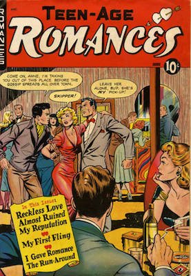 Teen-Age Romances #10: Classic Matt Baker comic book. Click for values