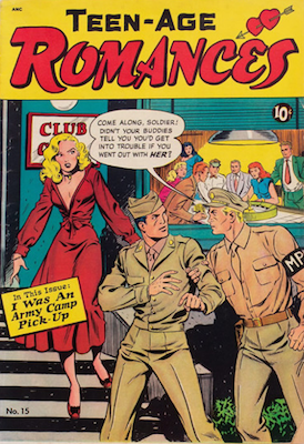 Teen-Age Romances #15, Matt Baker cover art. Click for values
