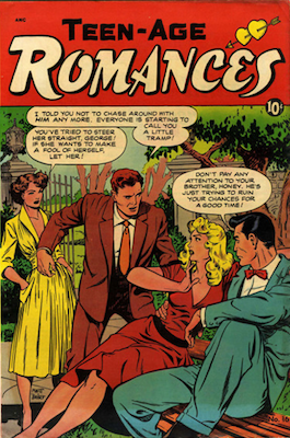 Teen-Age Romances #16: Baker cover. Click for values