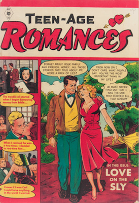 Teen-Age Romances #21 comic. Click for values