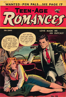 Teen-Age Romances #38 comic book. Matt Baker cover. Click for values