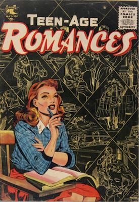 Teen-Age Romances #43: Matt Baker cover art. Click for values