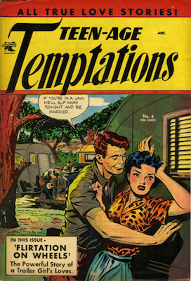 Teen-Age Temptations #4. Matt Baker cover art. Click for values