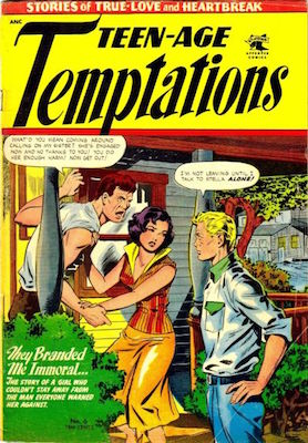 Teen-Age Temptations #6. Cover by Matt Baker. Click for values