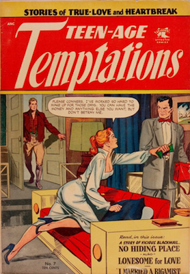 Teen-Age Temptations #7. Matt Baker cover art. Click for values