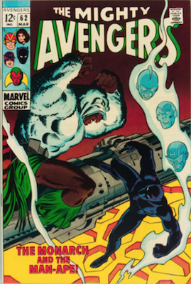 Avengers #62. Click for values.