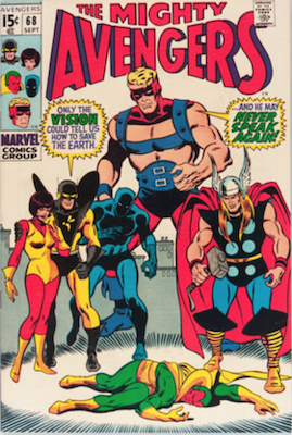 Avengers #68. Click for values.