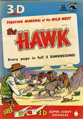 The Hawk 3-D: Matt Baker cover. Click for values