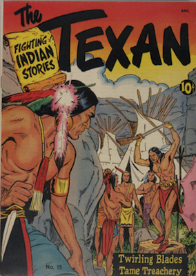 The Texan #15. Classic comic book art by Matt Baker. Click for values