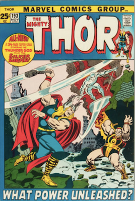 Thor #193, Giant-Size issue, scarce in high grade; Silver Surfer Appearance. Click for values