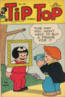 Tip Top Comics #173: Ties for first appearance of Peanuts. Click for values