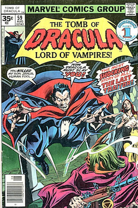Tomb of Dracula #59 Marvel 35 Cent Price Variants