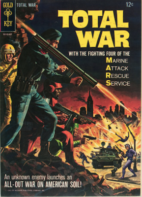 Total War #1 (1966): Becomes MARS Patrol from #3, Gold Key. Click for values