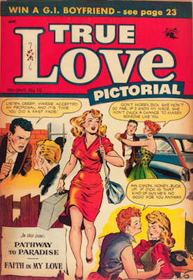 True Love Pictorial #10. Classic Matt Baker cover. Click for values