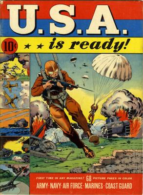 USA is Ready (1941). Propaganda WW2 issue. Dell Comics. Click for values