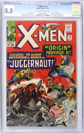 Uncanny X-Men 12 is still a bargain in upper grades, like CGC 8.0. Click to buy a copy