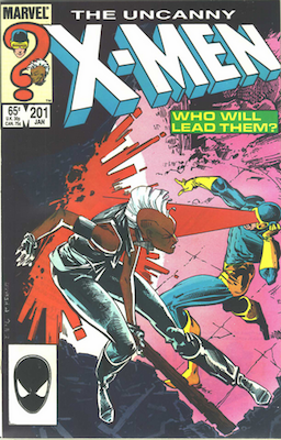 Uncanny X-Men #201: 1st Cable as Baby Nathan. Click for values
