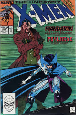 Uncanny X-Men #256: 1st Betsy Braddock as Psylocke. Click for values