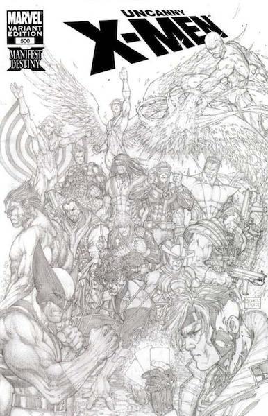 Top 100 Variant Comics: 100: Uncanny X-men 500 Turner Sketch (2008). Click for values