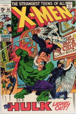 Uncanny X-Men #66: Last New Story Before Reprints; Incredible Hulk crossover. Click for values