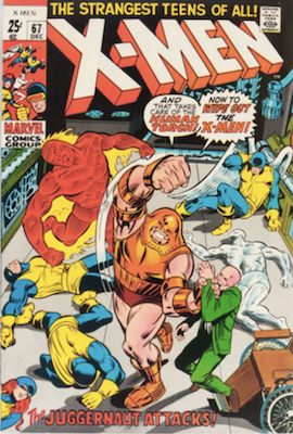 Uncanny X-Men #67. One of the reprint series which ran until #94 relaunched the series. Click for values