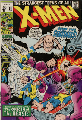 Uncanny X-Men #68. One of the reprint series which ran until #94 relaunched the series. Click for values