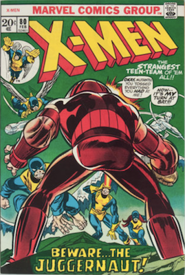 Uncanny X-Men #80. One of the reprint series which ran until #94 relaunched the series. Click for values